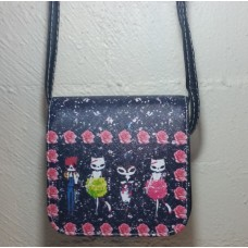 Dancing Cats Cross Body Bag