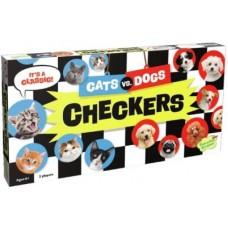 Cats VS Dogs Checkers Board Game
