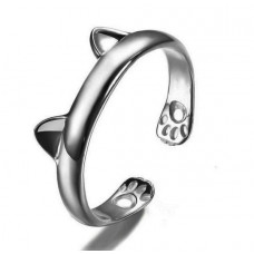 Cat Ears Silver Ring