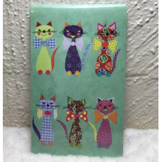Cats in Bow Ties Pocket Notepad