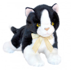 Black & White Plush Kitten