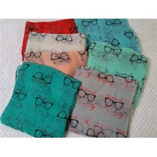 Cat Wearing Glasses Scarf