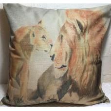 Lion Couple Cushion