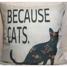 Because Cats Cushion