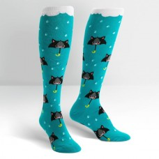 50% Chance of Cats Knee High Socks