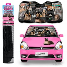 Car Full of Cats Car Sunshade