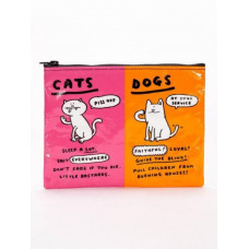 Cats & Dogs Zip Up Pouch