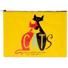 Cats. Slightly Obsessed With Them (Don't Worry About It) Jumbo Zip Up Pouch