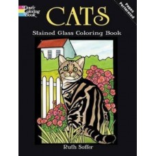 Cat Stained Glass Colouring Book
