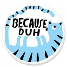 Button - 'Because Duh'