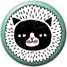 Button - Fluffy Cat