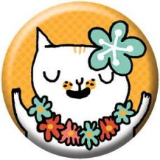 Button - Hawaiian Cat