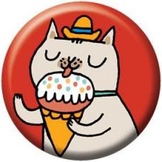 Button - Ice Cream Kitty