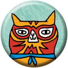 Button - Luchador Cat