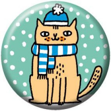 Button - Snow Cat
