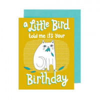 Card - A Little Bird Told Me It's You're Birthday