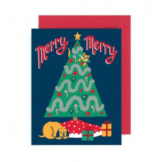 Card - Merry Merry Cat & Dog