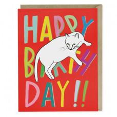 Card - Sprawled Cat Birthday