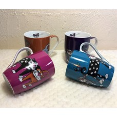 Kitty Kat Mugs - Set of 4