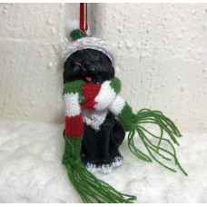 Hanging Christmas Decoration - Black Kitty