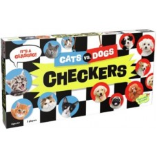 Cats VS Dogs Checkers Board Game