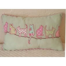 Cats in a Line Cushion