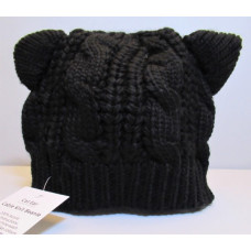 Cat Ear Cable Knit Beanie