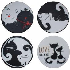 Black & White Coaster Set
