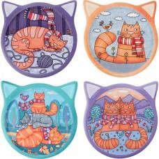 Ginger Cat Drawings Coaster Set