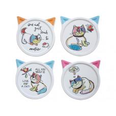 Quirky Cats Coaster Set