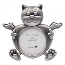 Cat Angel Memorial Photo Frame
