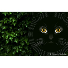 Black Cat Wind Spinner