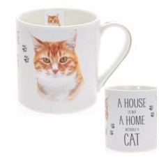 A House Is Not A Home Without A Cat Mug - Ginger Cat