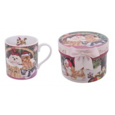 Christmas Cats & Dogs Mug in Gift Box - Small