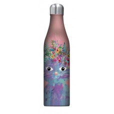 Fancy Cat Insulated Stainless Steel Drink Bottle