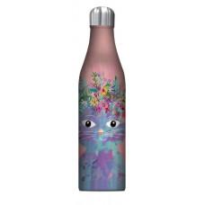 Fancy Cat Insulated Stainless Steel Drink Bottle