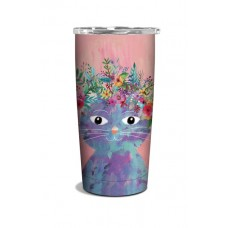 Fancy Cat Insulated Stainless Steel Tumbler/Travel Mug