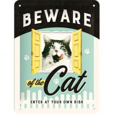 Beware of the Cat Sign - Large