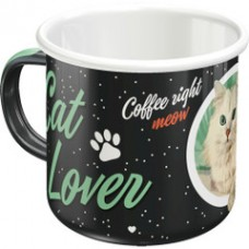Cat Lover Enamel Mug