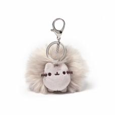 Pusheen Pom Keychain - Grey