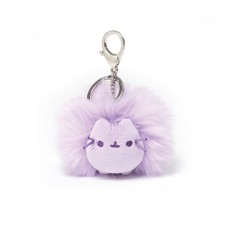 Pusheen Pastel Pom Keychain - Purple