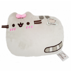 Pusheen Cushion Lying - Pink Bow (Embarrassed)