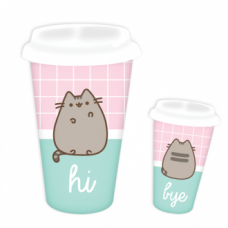 Pusheen Travel Mug - Hi & Bye