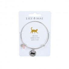 Cat Motif Bangle by Lily & Mae