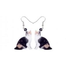 Calico Torti Acrylic Earrings