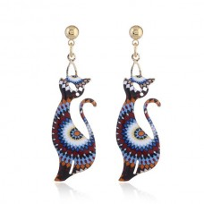 Contempo Cat Earrings - Tribal