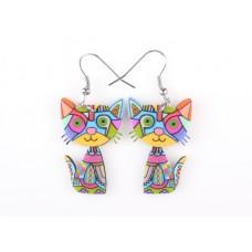 Bright Cat Arcylic Earrings