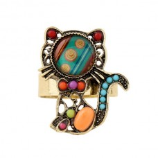 Colourful Cat Ring