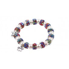 Multi-Coloured Crystal Bead Cat Bracelet