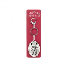 Crazy Cat Person Keyring